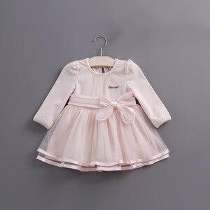 Image 1 - Detaliczna wiosna łuk koronkowa sukienka dziewczynek słodkie dziecko niemowlę koronkowa suknia balowa dziewczyna sundress księżniczka sukienka 3 kolor