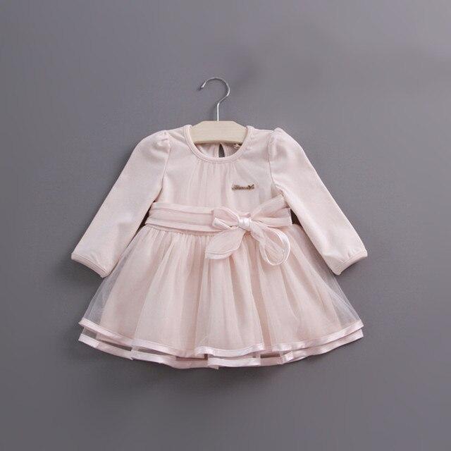 Detaliczna wiosna łuk koronkowa sukienka dziewczynek słodkie dziecko niemowlę koronkowa suknia balowa dziewczyna sundress księżniczka sukienka 3 kolor