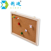 Free Shipping Natural Wood Frame Cork Message Board Cork Board Office Supplier 25 35cm Factory Direct