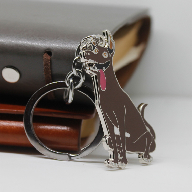 FREE shipping by FEDEX 100pcs/lot New Hot Selling Coco Dream Guitar Keyrings Metal Dante Dog Keychains