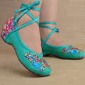 2016 new fashion women's flats shoes chinese style old peking embroidery butterfly mary jeans ladies female flats dance shoes