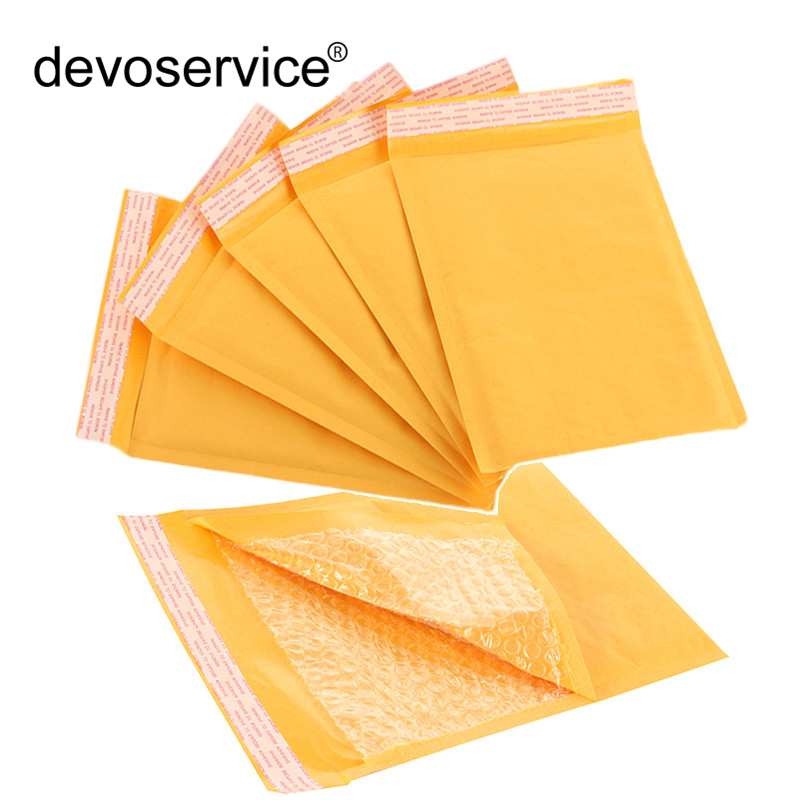 100pcs/Lot Kraft Paper Bubble Envelopes Bags Mailers Padded Shipping Envelope With Bubble Mailing Bag Various Size Optional