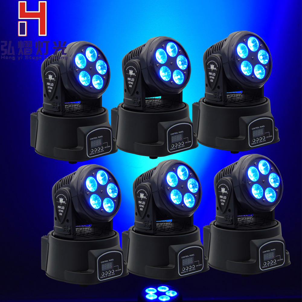6pcs/lot Led Moving Head DMX Wash 5x18w Mini Music Sound Light Stage Christmas Party Show Disco Dj Dmx RGBWA Light 8 units led moving head dmx wash 18x3w mini music sound light stage christmas party lumiere laser show disco dj dmx rgb light