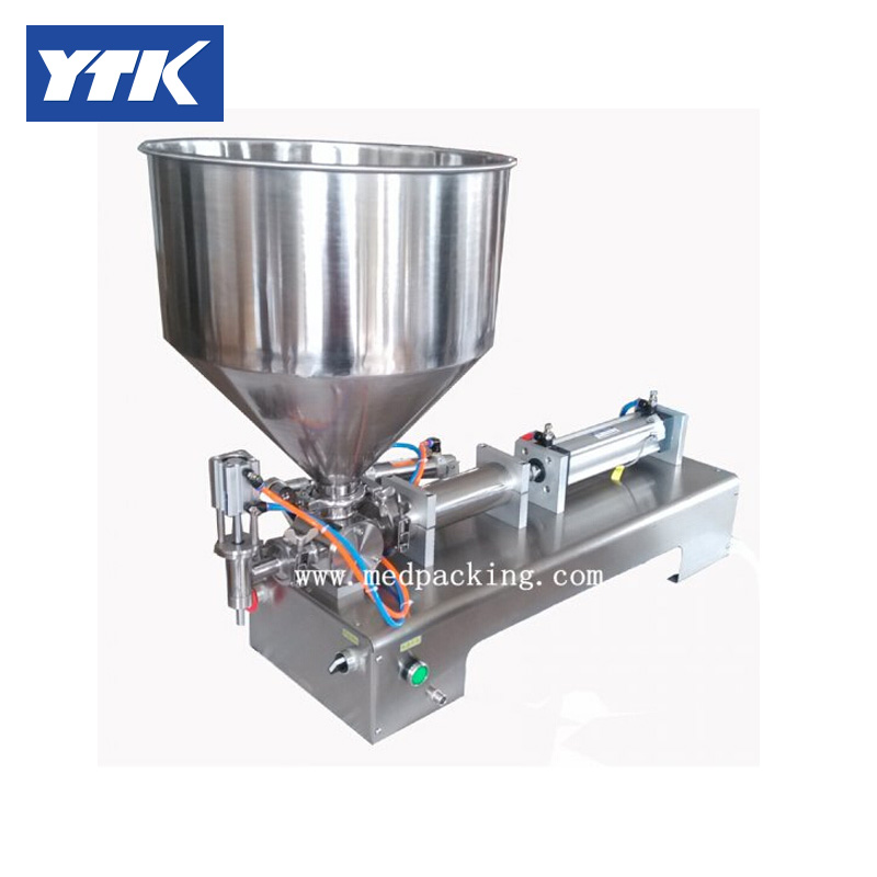 10-300ml  Single Head Cream Shampoo Filling Machine Paste Filler 45kg