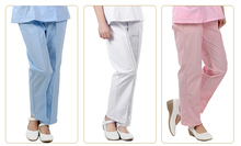 Professional Cotton Nurse Pants Medical Bottoms Trousers Doctor Cloth Medical Work Pants White Pink Blue Color