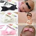 2015 Acessórios de Cabelo Infantil do bebê meninas 3.2 de polegada Fita De Gorgorão bowknot com skinny elastic headband crianças banda Tiara