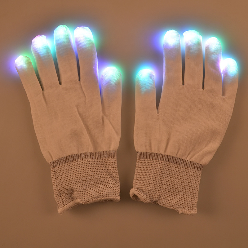 Event & Party Supplies LED Mittens Flashing Fingertip Light Show Gloves For Rave Party Concert Free Shipping  1pair