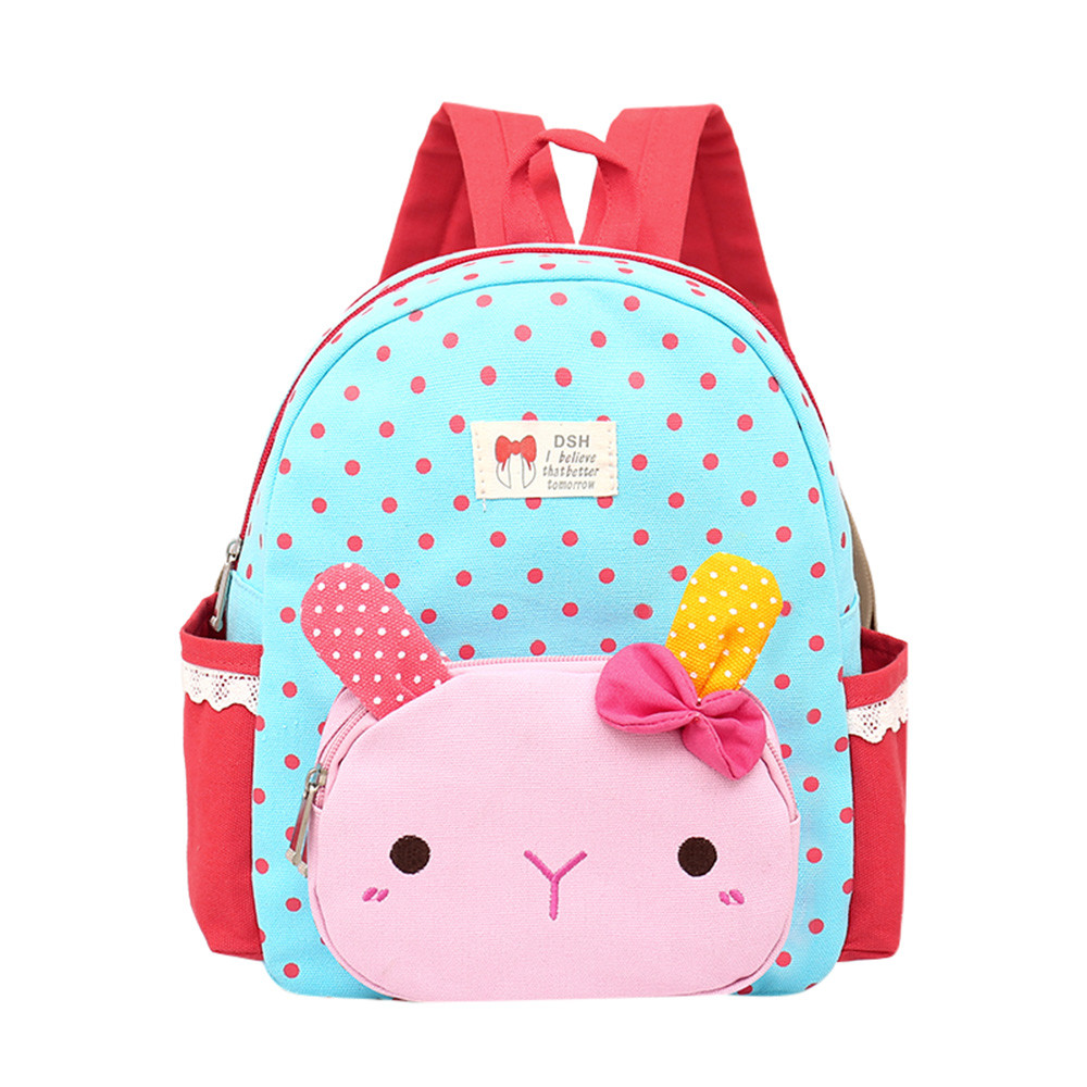 Children Baby Girls Boys Kids Cartoon Rabbit Animal Backpack Toddler School Bag JUJY4