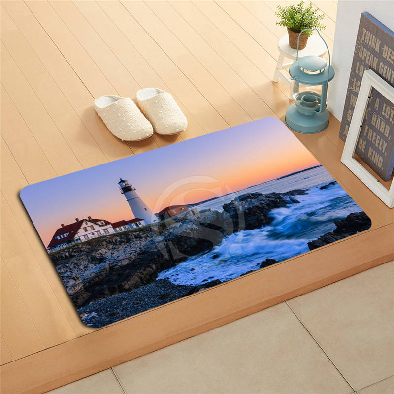 P&!17 Custom Portland Head Light Doormat Home Decor Door mat Floor Mat Bath Mats foot pa ...