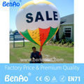 AO066 Free shipping 2.5m 0.18mm PVC giant inflatable advertising floating helium balloon/ inflatable hot air balloon for sale