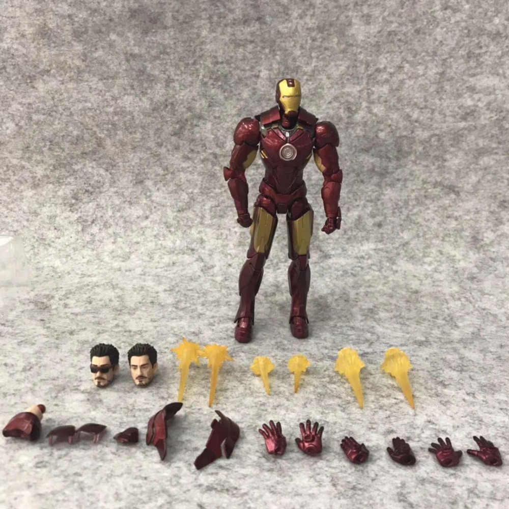 Figuarts Железный человек 2 MK4 Железный человек и диван Tonys фигурка ПВХ фигурка Коллекционная модель игрушки