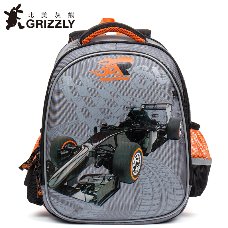 GRIZZLY New Fashionboys Students Cartoon School Bags Orthopedic Waterproof Primary School Backpacks for Children Grade 1-4 GRIZZLY New Fashionboys Students Cartoon School Bags Orthopedic Waterproof Primary School Backpacks for Children Grade 1-4