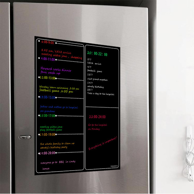 cccdcb2d7e1d6 US $11.96 54% OFF|Magnetic A3 Planner Board Kitchen Fridge Large Dry Erase  Calendar Organizer Notepad Weekly Planner Whiteboard Grocery List-in ...