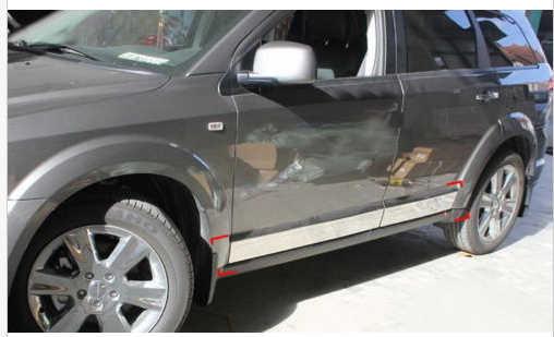 Корпус из нержавеющей стали двери боковой молдинг отделка Chrome для 2009 2013 Dodge Journey