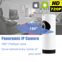 Home Security Surveillance Fish Eye Lens IP Camera WiFi Baby Monitor Wireless Two Way Audio Panoramic