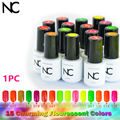 15 Charming Flourescent Colors 5ml Gel Polish Choose Any 1 Color Nail Gel Soak Off Led UV Nail Lamp Gel Nail UV Polish