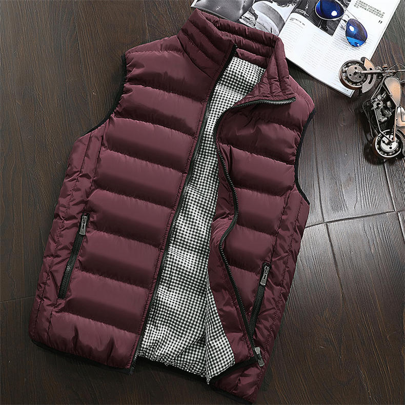 Vest Men 2019 Spring Autumn Male Sleeveless Jacket Coat Lovers Stylish Padded Down Vest Men Waistcoat Brand Cloths Plus Size 5XL 13