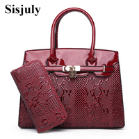 Sisjuly Serpentine Leather Bag Women Fashion Lock Coin Purses And Handbags Casual Tote Bag 2019 Big Shoulder Crossbody Bags Sac