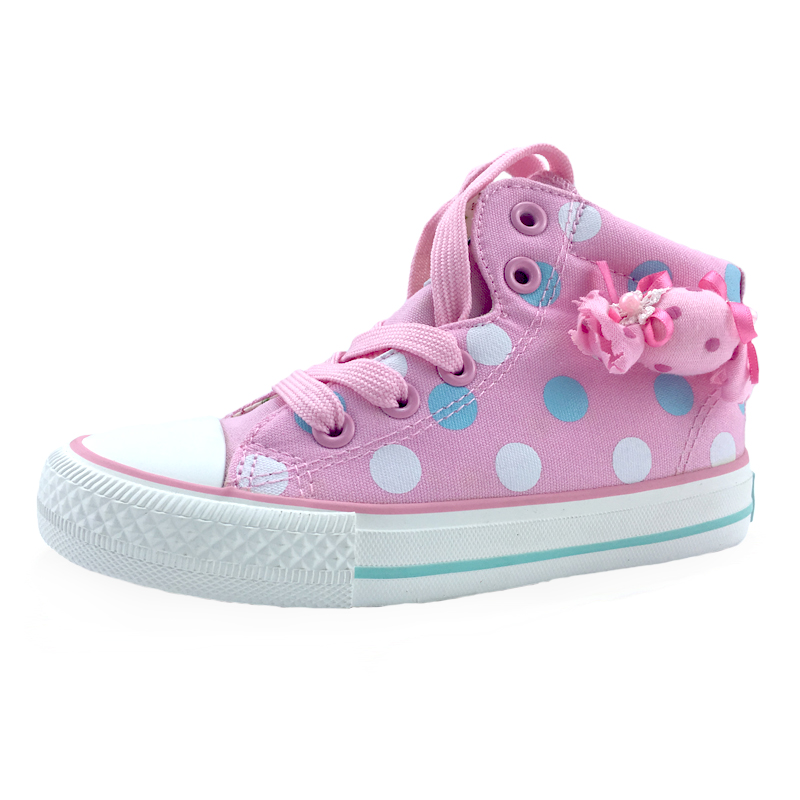 Spring Autumn Children Canvas Shoes Fashion Dot Candy Girls Baby Leisure Sneakers Kids Shoes For Girls Student Running Shoes