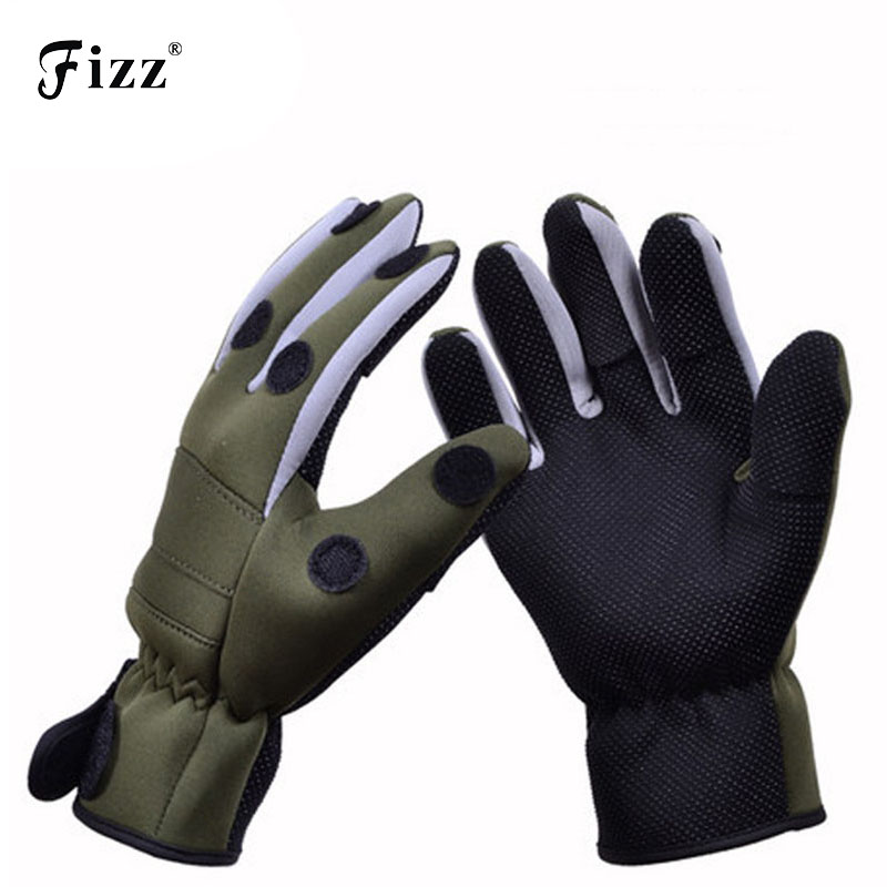 High Quality Thickened Non Slip Winter Fishing Gloves Waterproof Thermal Camouflage Fishing Gloves 3 Half-Finger Outdoor Gloves