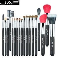 JAF 18 Pcs Make Up Brush Set Natural Super Soft Red Goat Hair Pony Horse Hair