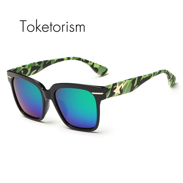 Mais recente moda camouflage sol polarizada óculos hispter camo ao ar livre óculos de sol de marca designer de 7368