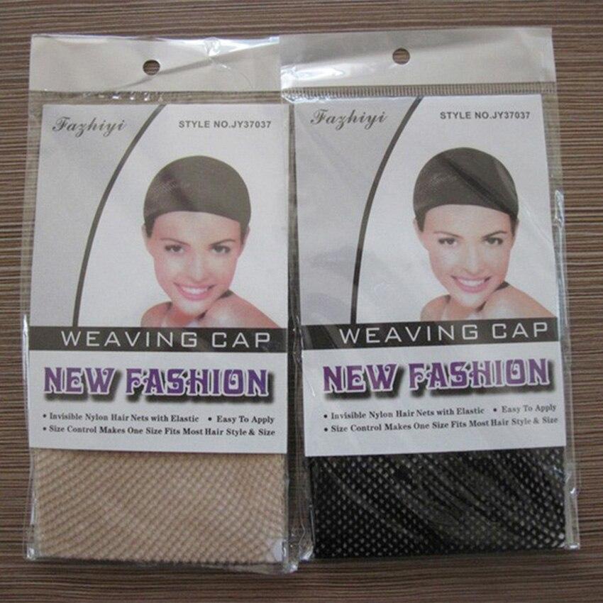 Heat Resistant Stretchable Black Nude Snood Weaving Wig Cap Mesh Hair Net 180pcs