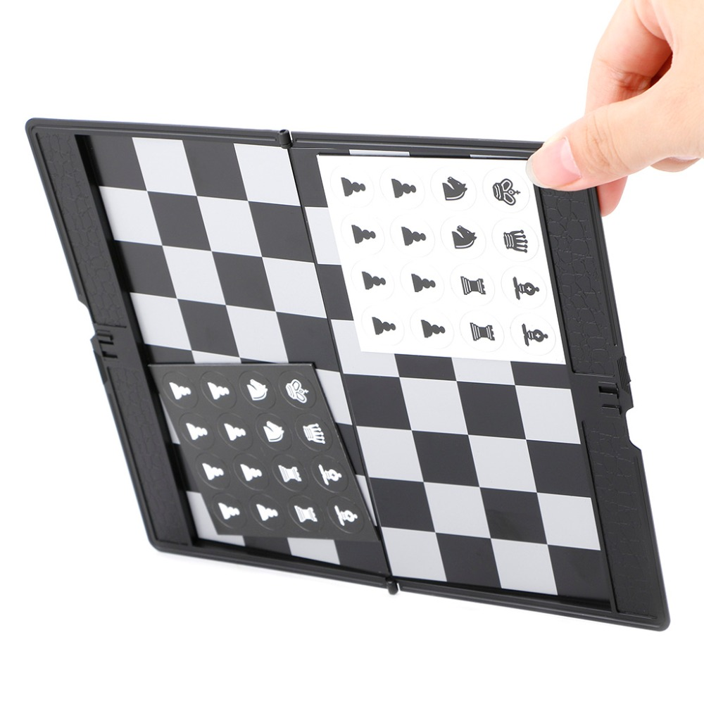 Tabuleiro de xadrez de bolso dobrável magnético