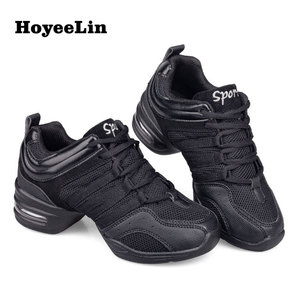 Image 1 - HoYeeLin Mesh Jazz Shoes Woman Ladies Modern Soft Outsole Dance Sneakers Breathable Lightweight Dancing Fitness Shoes