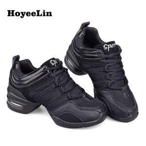 Image 1 - HoYeeLin Mesh caz ayakkabı kadın bayanlar Modern yumuşak taban dans Sneakers nefes hafif dans spor ayakkabı