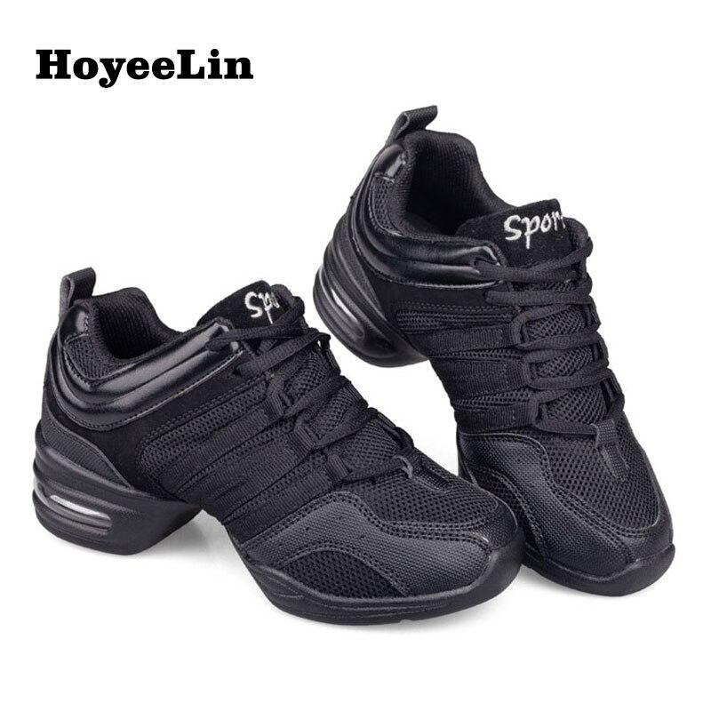 HoYeeLin de malla zapatos de Jazz mujer señoras moderno suave suela zapatillas de baile ligera y transpirable baile zapatos de Fitness