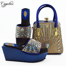 Capputine Italian Novelty PU Woman Shoes With Matching Bag For Nigerian Shoes And Bag Set For Wedding African Shoes And Bag Set