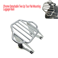 For motorcycle parts Chrome Detachable Two Up Tour Pak Mounting Luggage Rack For Harley Touring 2009 2016