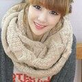 2016 nueva mujer otoño e invierno femenina largo invierno caliente bufandas de lana gruesa de las mujeres torcedura collares de la bufanda