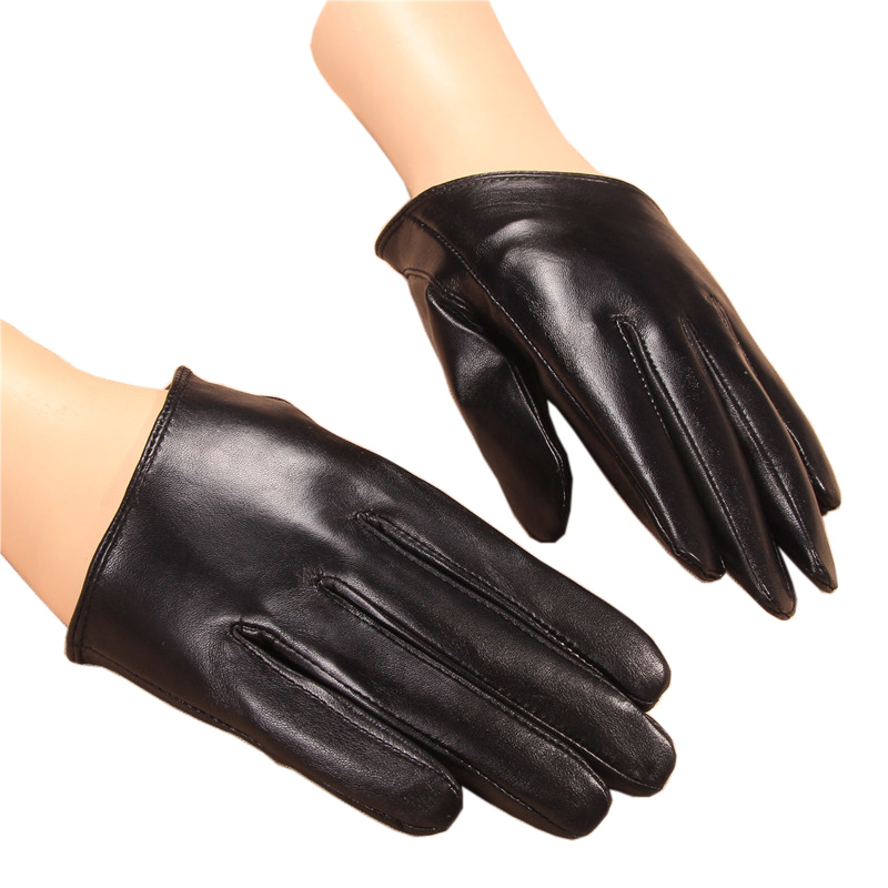 2018 New Summer Women Gloves Short Style Lady Genuine Leather Glove Fashion Dance Driving Half Palm Five Finger Gloves NS08