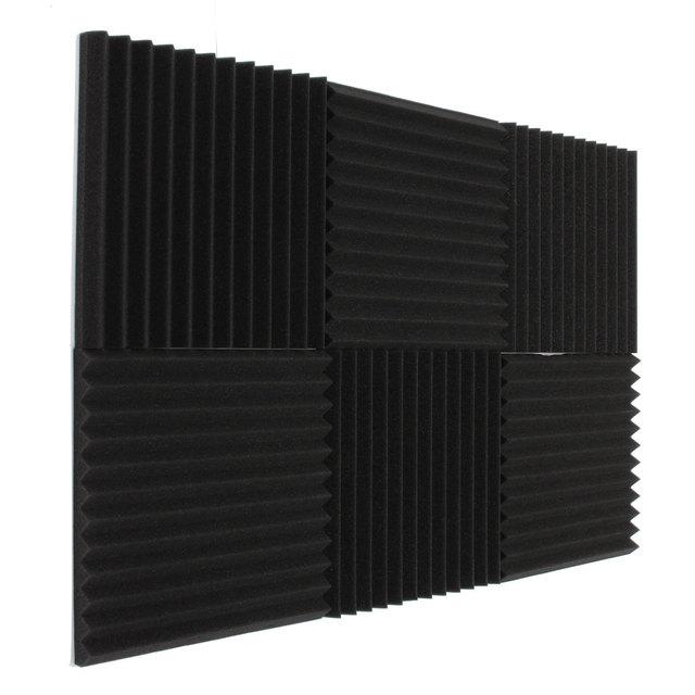 Новые 6x акустической пены Клин Плитки Studio звукоизоляция номер лечения поглощения Водонепроницаемый 30*30*3 см благоприятные