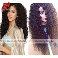 Top Quality Synthetic Loose Curl Lace Front Wigs With Natural Hairline Deep Curl Heat Resistant Fiber Synthetic Lace Front Wig