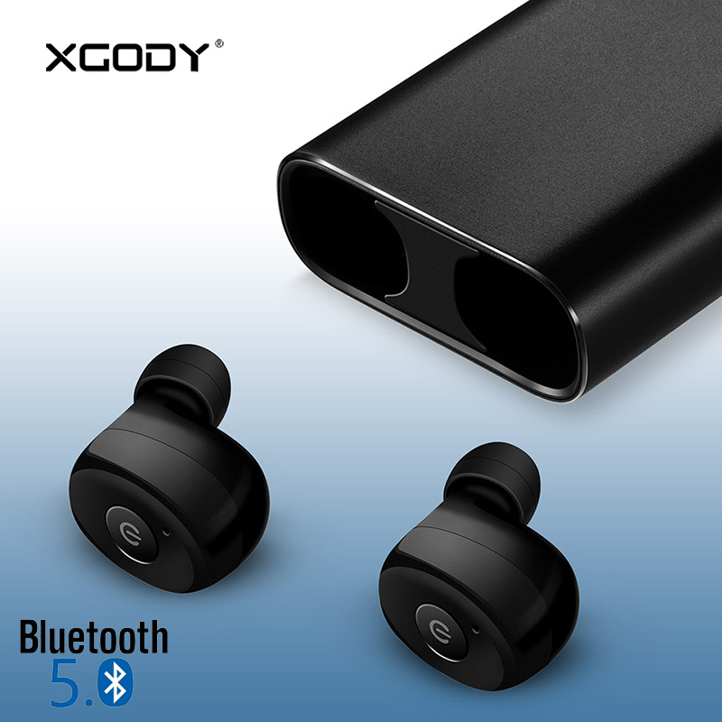 XGODY S3X TWS Wireless Earphone Bluetooth 5.0 In Ear Earpiece HiFi Stereo Sound Earbud for iPhone for Xiaomi for Android Phone moxpad stereo headphone headset in ear earphone for your in ear phone bud iphone player computer smartphone mic earbud earpiece