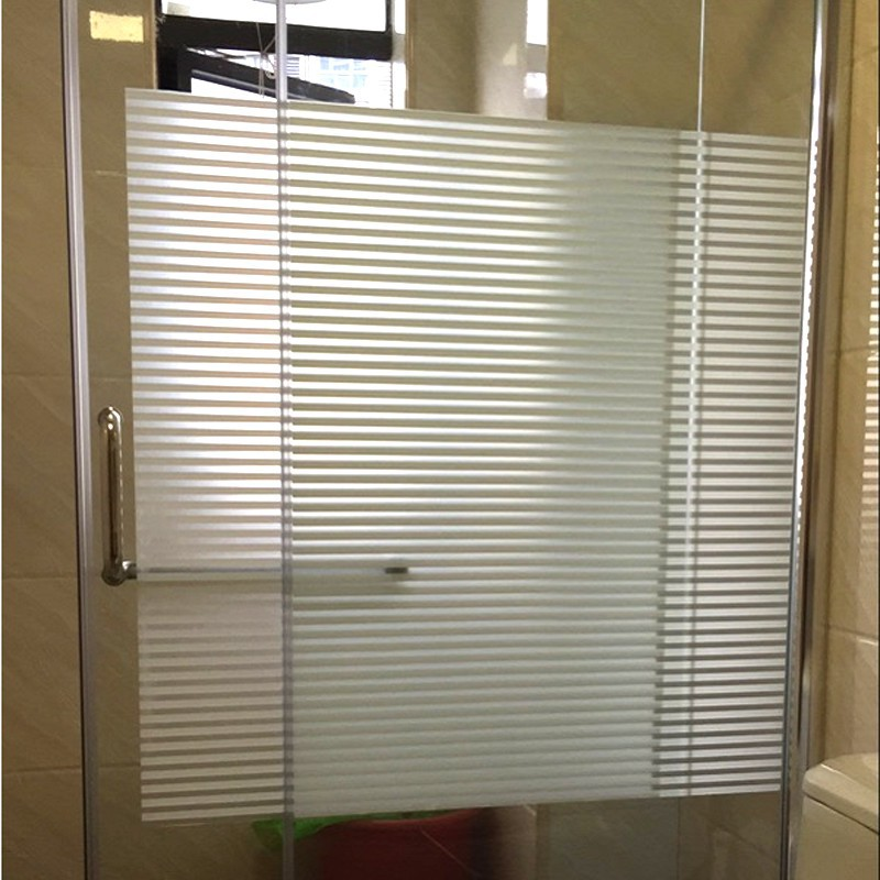 Hot Sale Home Decoration 60 / 75x300cm Frosted Glass Window Film Streak Sticker Wit Scrub Streep