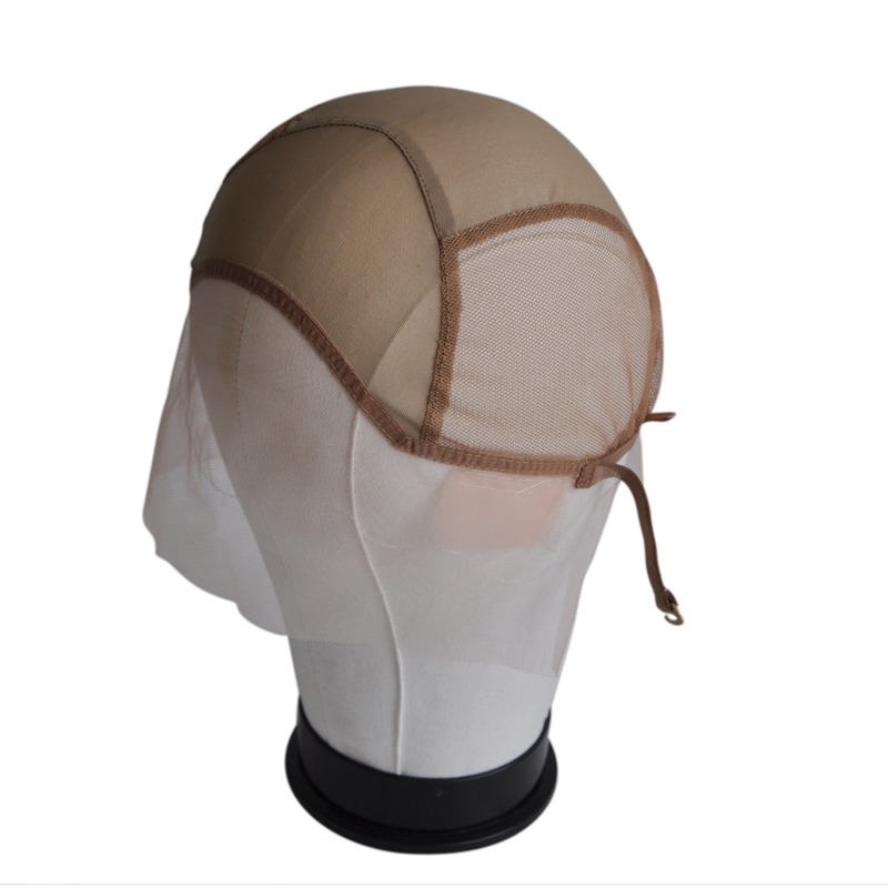 Front Lace Net Wig Cap For Making Wigs With Adjustable Straps Glueless Weaving Cap