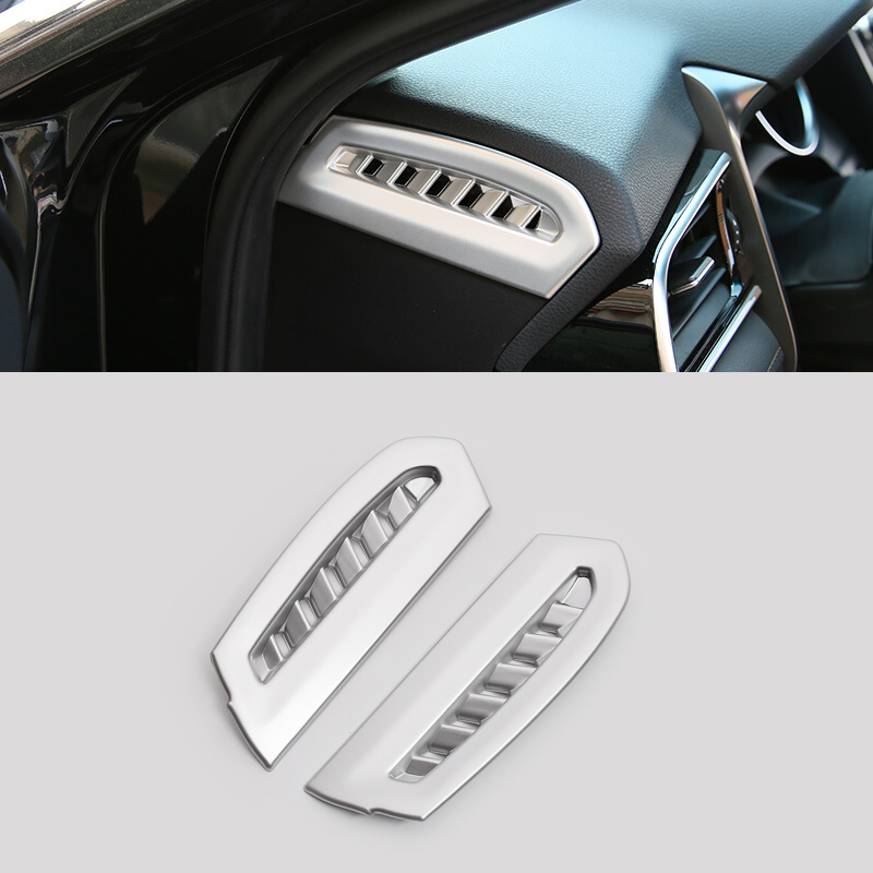 1PCS Carbon Fiber Inner Middle Air Vent Outlet Cover Trim For TOYOTA CAMRY 2018