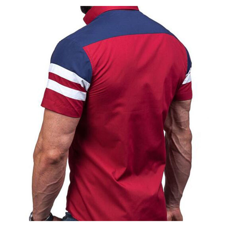 Hip Hop Style Men Fashion Mixed Color Casual Shirts Short Sleeve Single Breasted European Wind Comfortable Breathable Shirts in Casual Shirts from Men 39 s Clothing