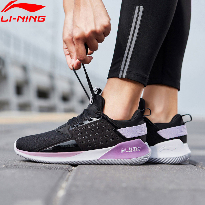 Li Ning Women COLOR ZONE Running Cushion Shoes Breathable Wearable Light Weight LiNing Sport Shoes Sneakers