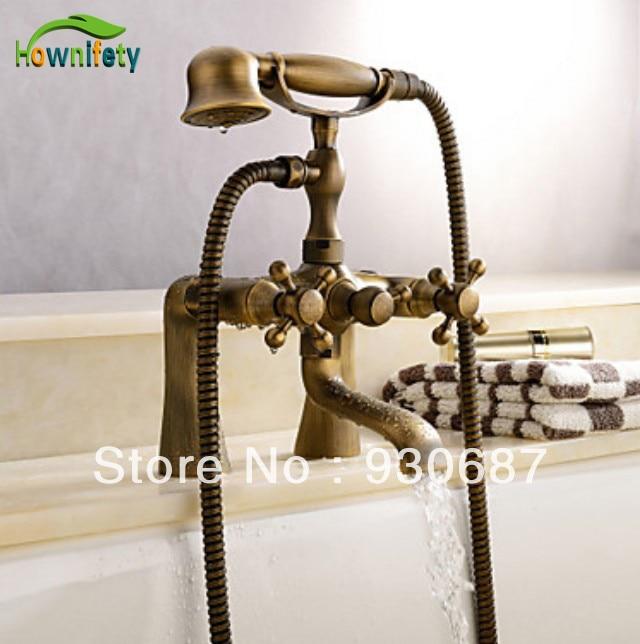 NEW Classic Centerset Spout Bathtub & Shower Faucet Mixer Tap Telephone Design