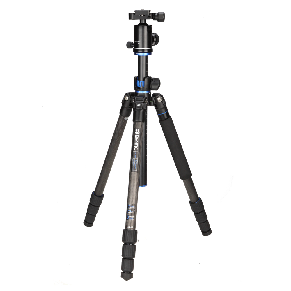 Latest BENRO Go Travel Tripods Kit Professional Digital Camera Tripod Top magnesium Alloy Tripod For SLR Cameras GC168TV1 in Tripods from Consumer Electronics