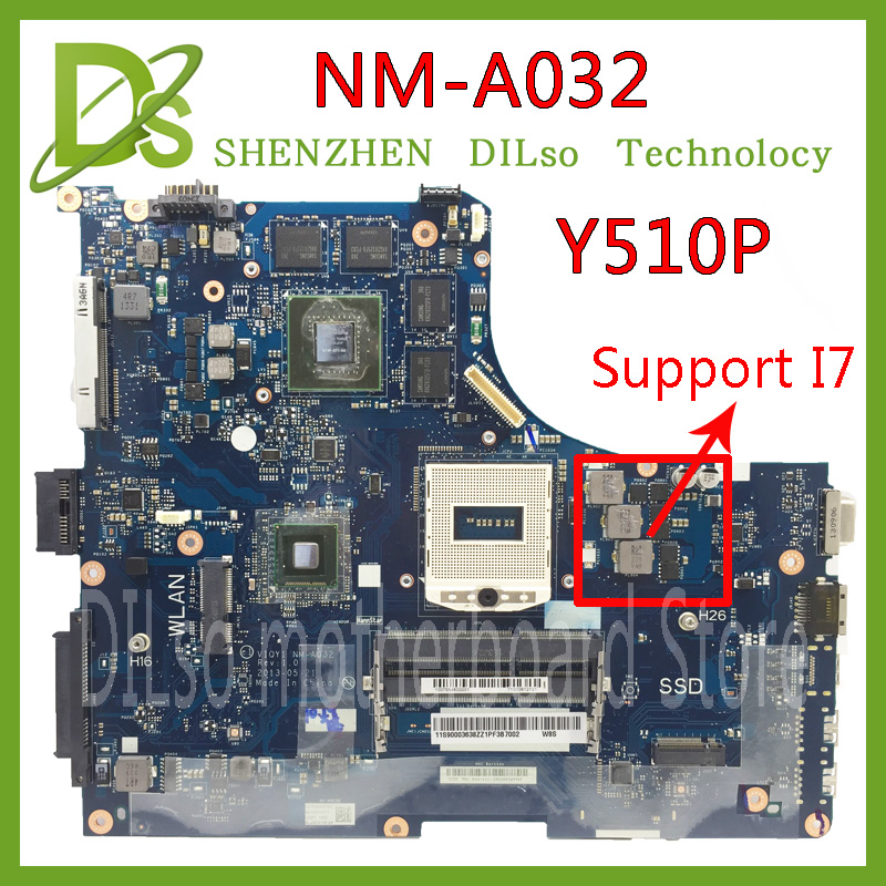 KEFU Y510P VIQY1 NM A032 REV:1.0 Y510P laptop motherboard for Lenovo Y510P NM A032 GT750/755 Test motherboard