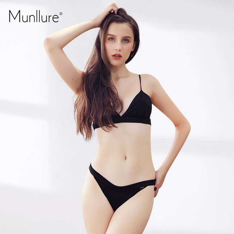 c73c1d7ab2ac Munllure 2017 New Design Sexy Chinese Red Ultra Thin Underwear Women Soft  Comfortable Silk Bra Set Lingerie Brassiere For Ladies-in Bra & Brief Sets  from ...