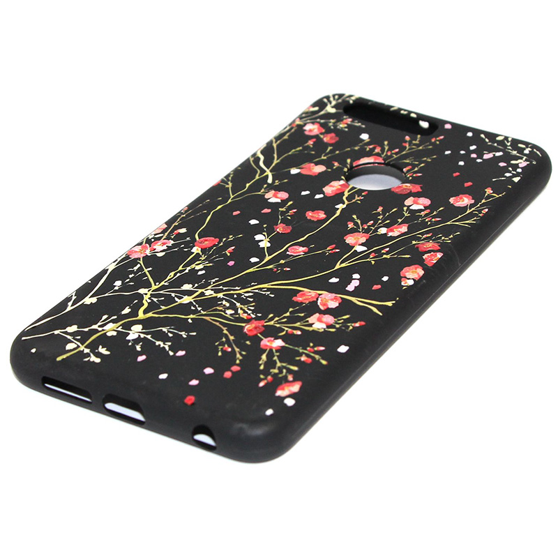 3D Relief flower silicone case huawei honor 8 (28)