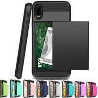 For Huawei P30 Pro Lite P20 P Smart 2019 Case Card Slot Sliding Door Pocket Case For Huawei P20 Pro LITE P smart 2019 P30pro