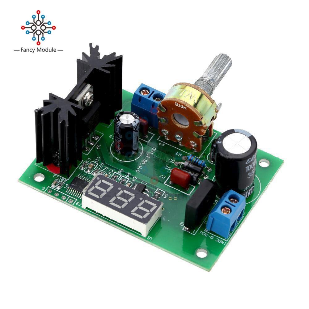 LM317 DC Buck Step Down Converter Module Voltage Regulator LED Voltmeter 12V 24V DC 0-30V Output DC 1.25-30V for Arduino lm317 dc buck step down converter module voltage regulator led voltmeter 12v 24v dc 0 30v output dc 1 25 30v for arduino